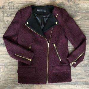 Zara wool blend moto jacket (LIKE NEW)